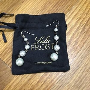 Lulu Frost Graduated Glass Pearl Drop Earrings